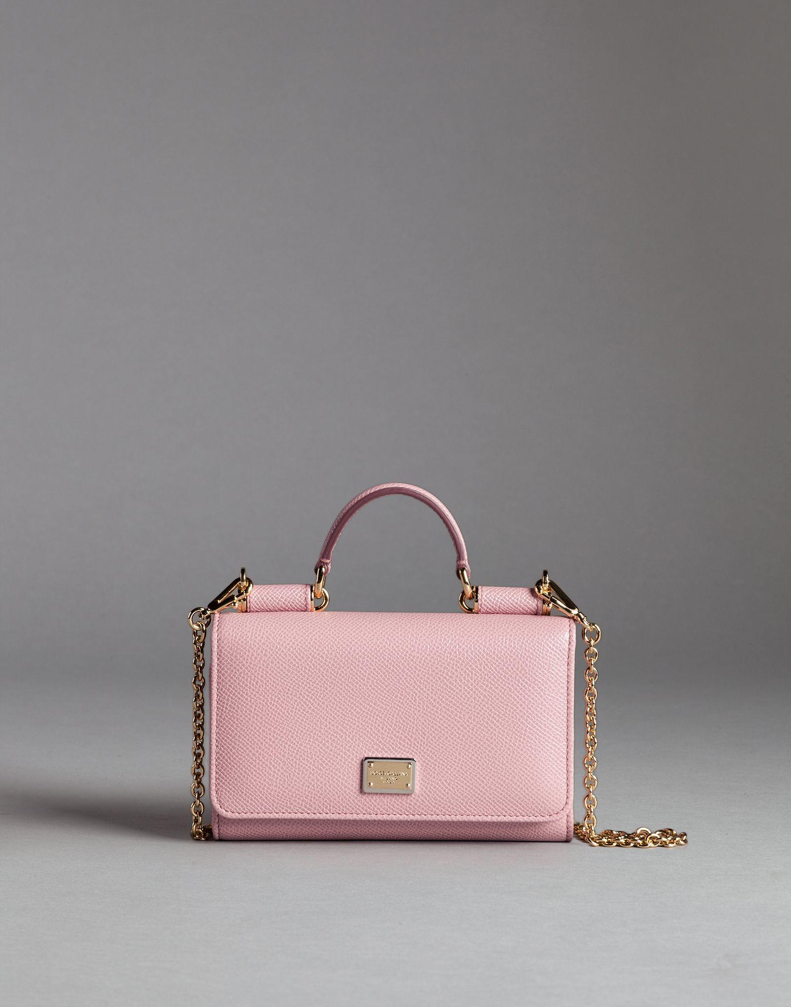 ... super popular d81c8 40973 Lyst - Dolce Gabbana Dauphine Print Calfskin  Mini Phone Bag ... 0e04faf75b2f5