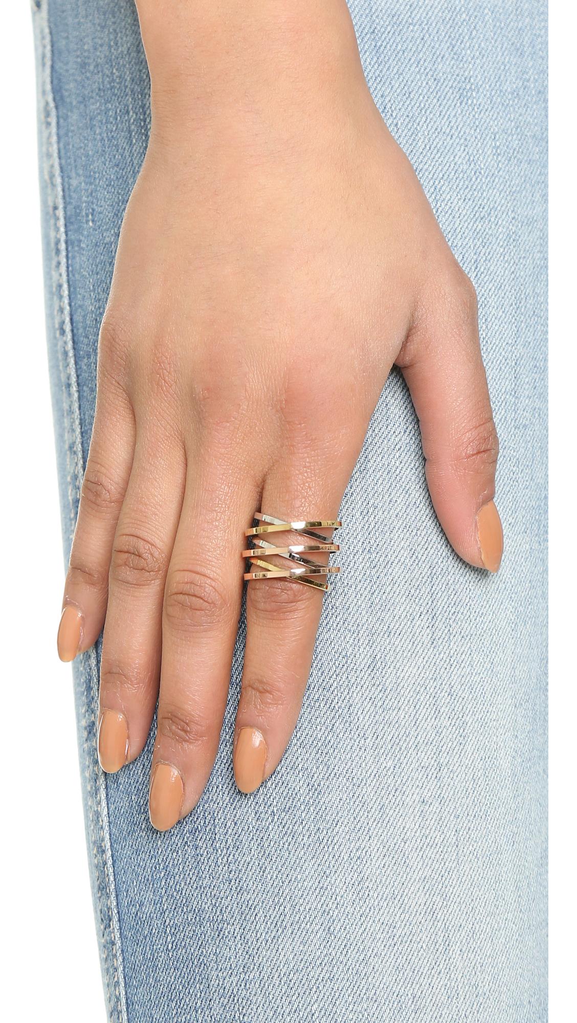 18k Rose Gold 1 50 Ct Diamond Womens Crisscross Ring