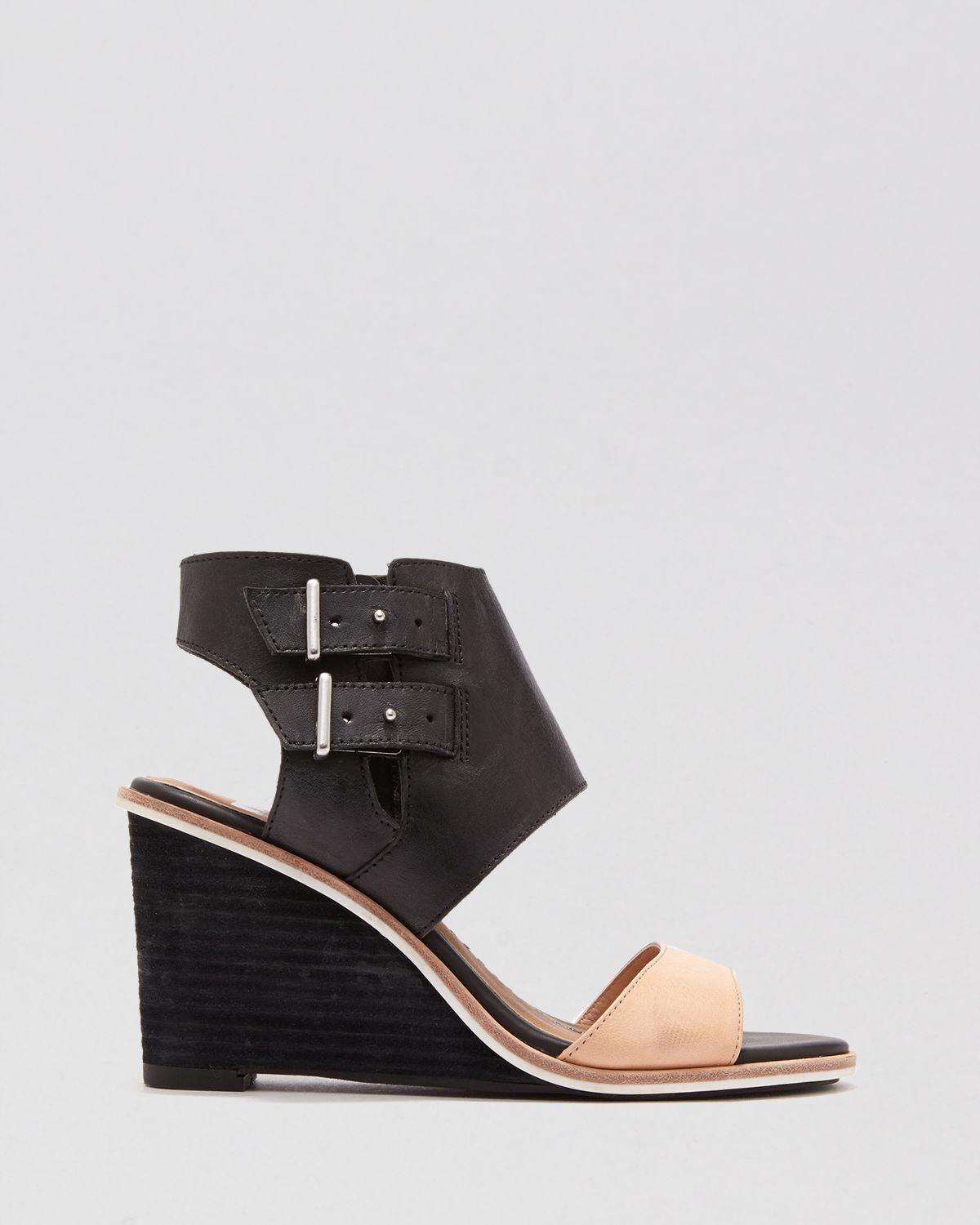 dolce vita open toe wedge sandals cambria in black lyst