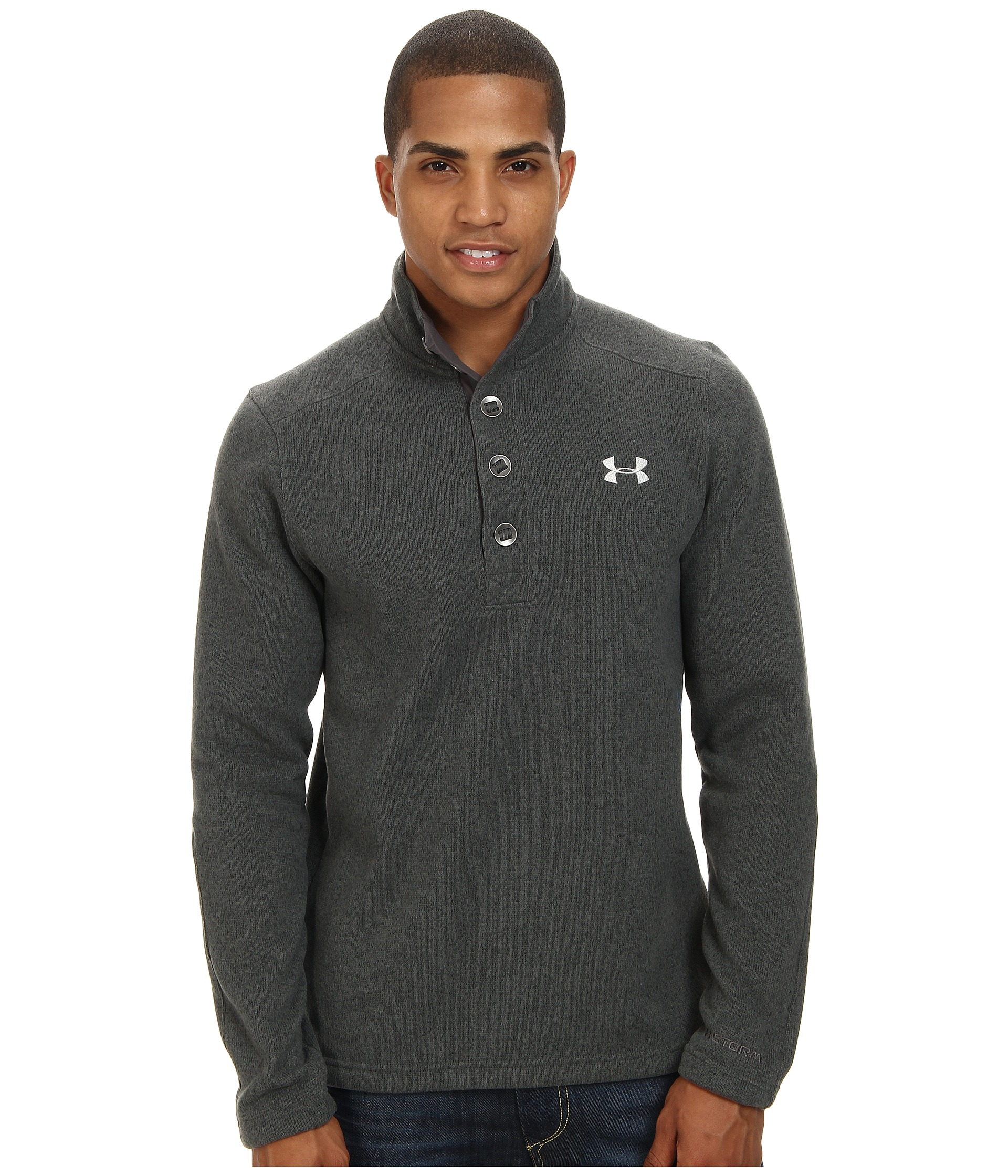 Lyst Under Armour Ua Specialist Storm Sweater In Gray For Men