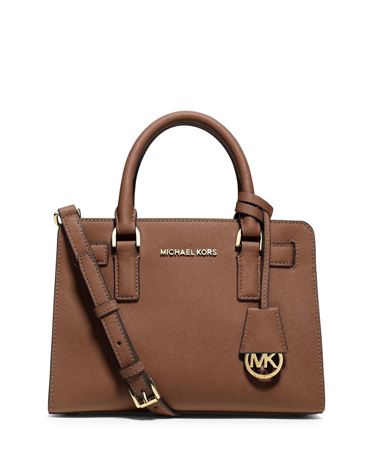 0af19a71602e MICHAEL Michael Kors Dillon Small Leather Satchel Bag in Brown - Lyst
