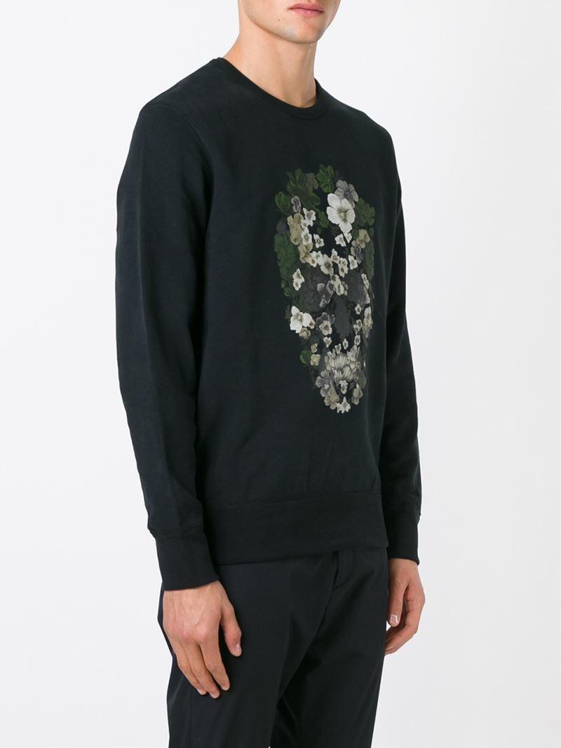 lyst alexander mcqueen skull crown patch hoodie in black for men. Black Bedroom Furniture Sets. Home Design Ideas