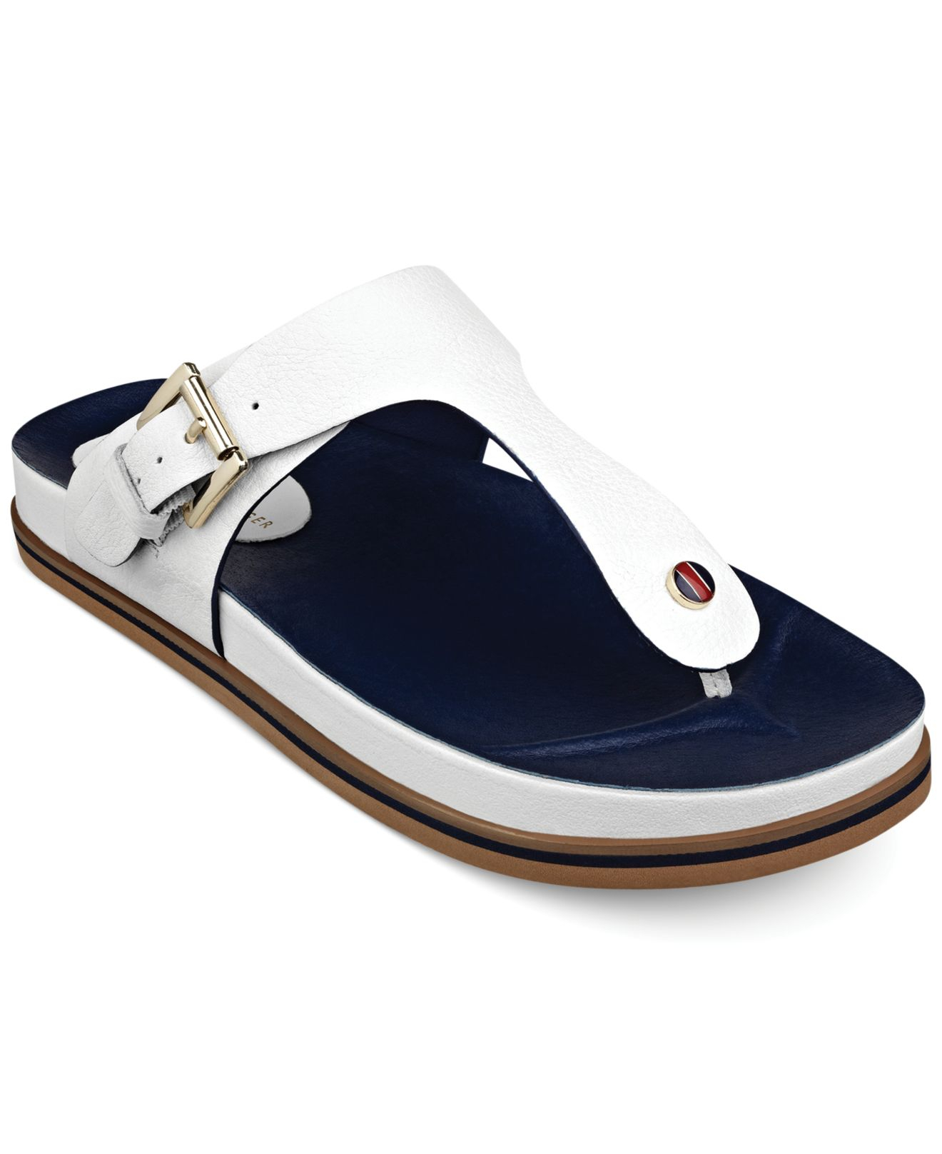 Womens Leather Footbed Beach Sandal Flip Flops Tommy Hilfiger Clearance Official Outlet Brand New Unisex Looking For Online Free Shipping Purchase New And Fashion qntl0cv