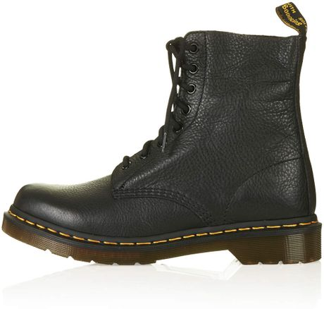 topshop dr marten leather boots in black lyst