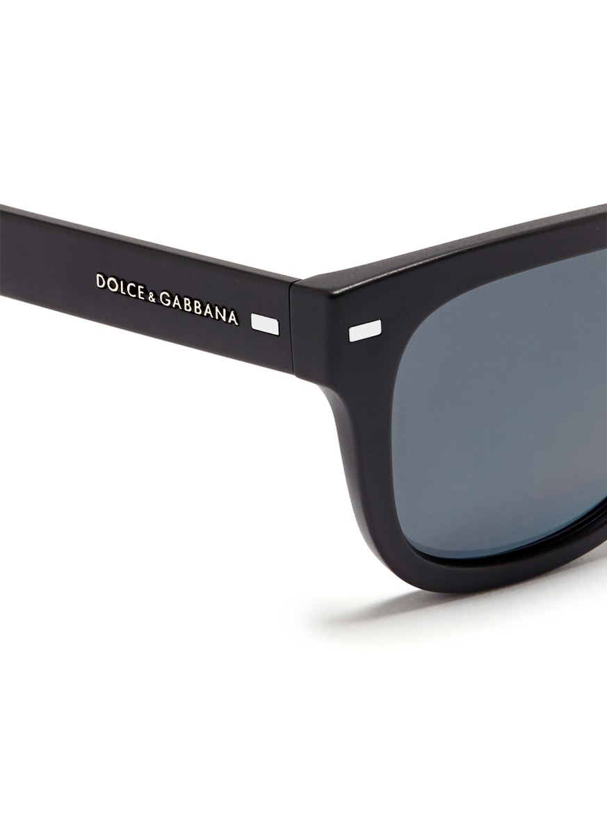 Dolce And Gabbana Sunglasses Foldable  dolce gabbana matte acetate foldable sunglasses in black lyst