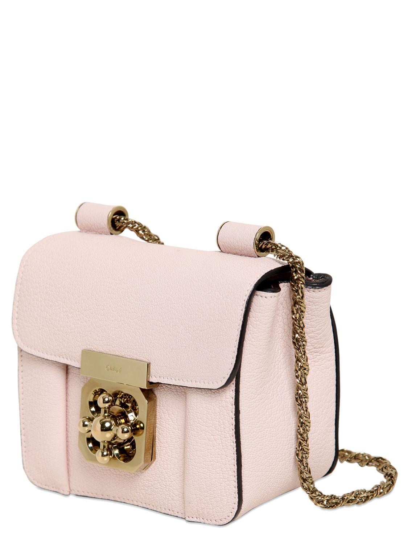 Chlo¨¦ Pink Leather Mini Elsie Bag in Pink   Lyst