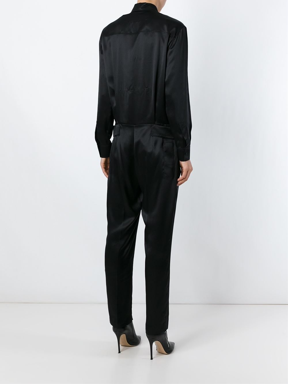 56092e45978a Lyst - Givenchy Military Style Jumpsuit in Black