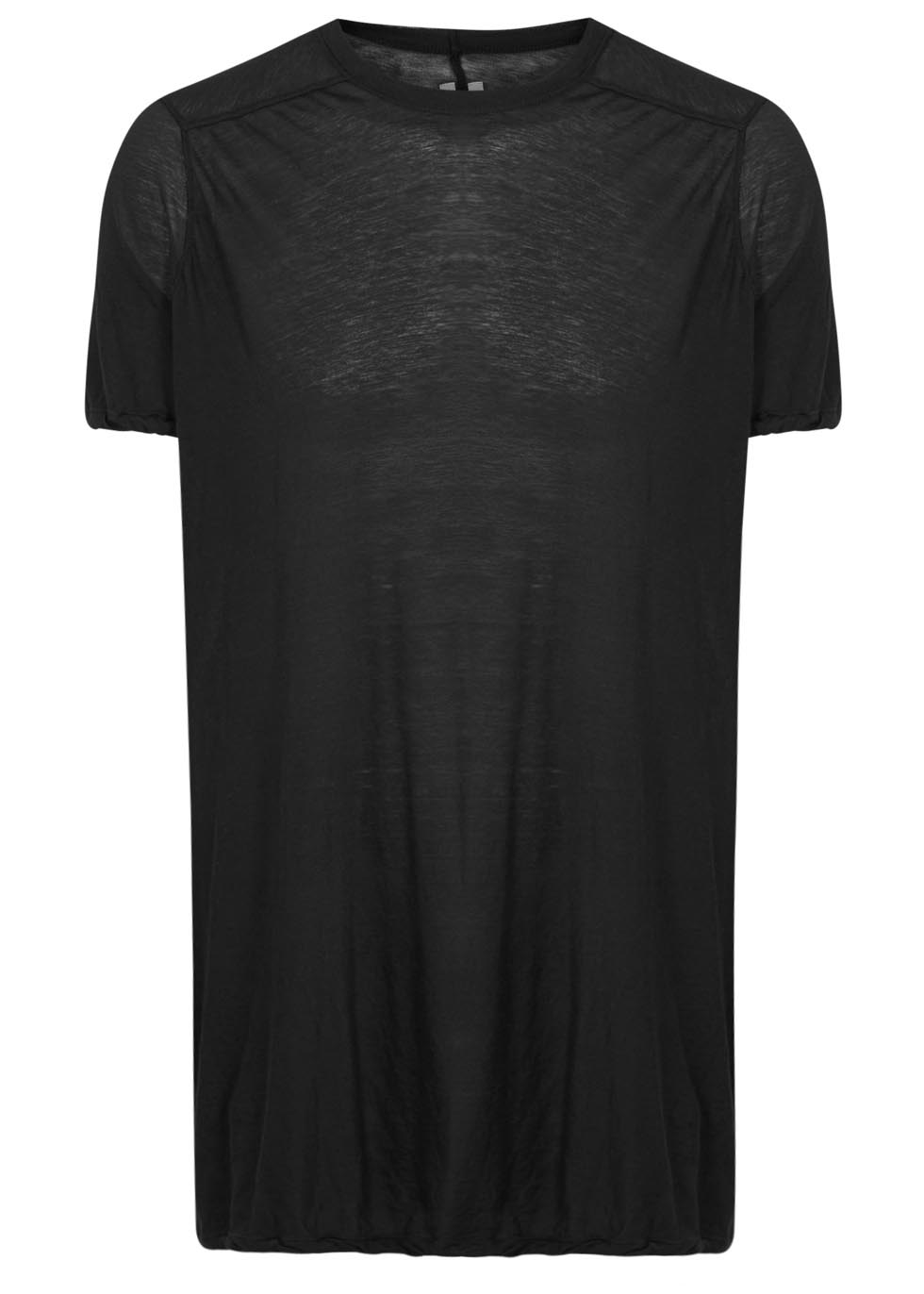 rick owens black extra long cotton t shirt in black lyst