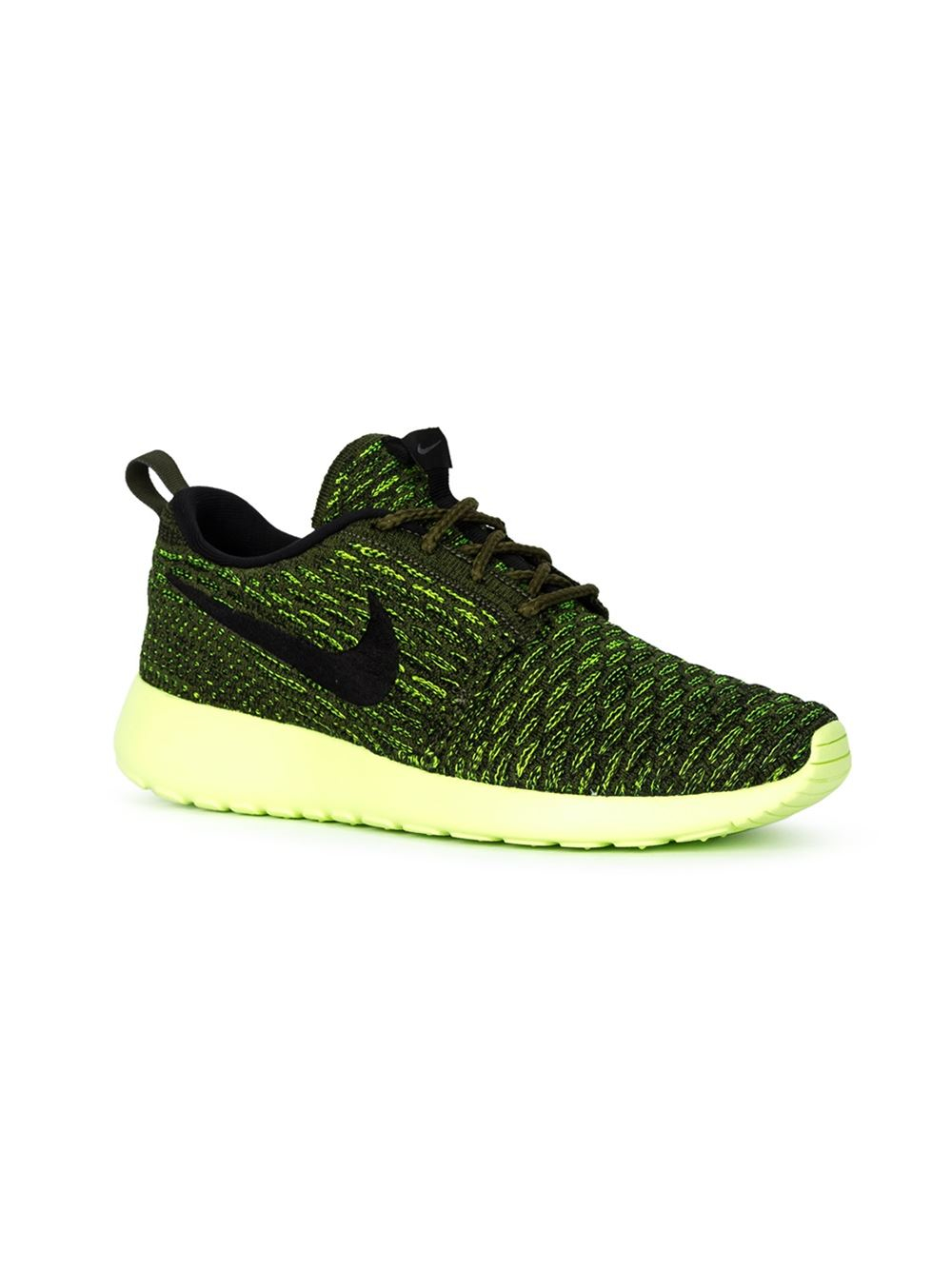 nike roshe one flyknit sneakers in yellow yellow orange. Black Bedroom Furniture Sets. Home Design Ideas
