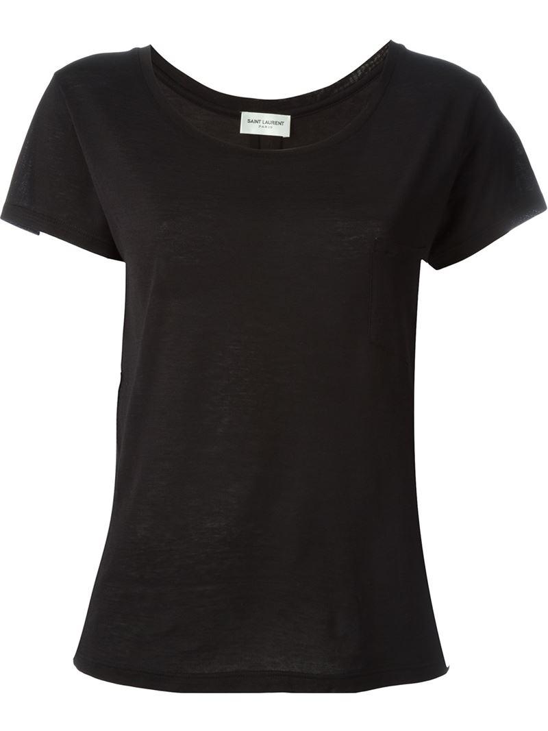 saint laurent classic t shirt in black lyst. Black Bedroom Furniture Sets. Home Design Ideas