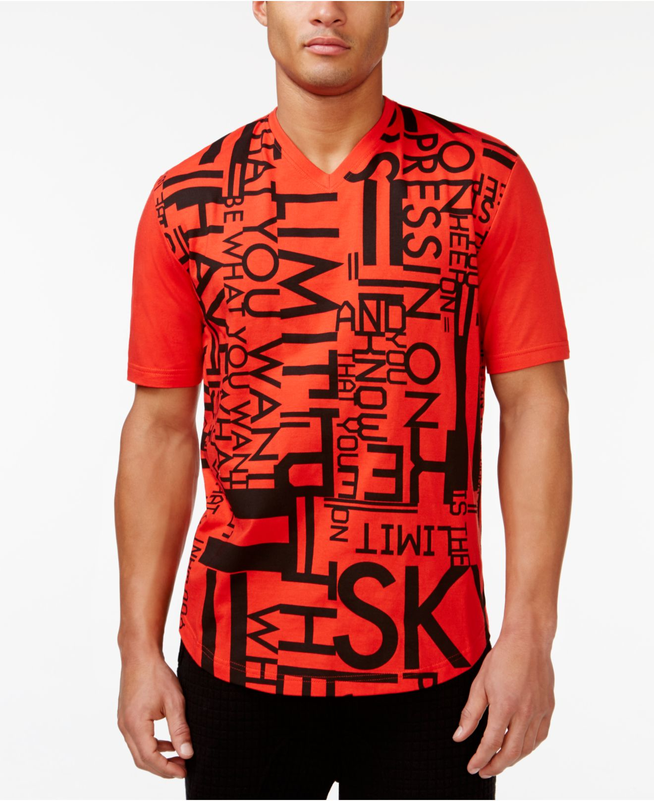 Sean john men 39 s sky is the limit t shirt in red for men lyst for Sean john t shirts for mens