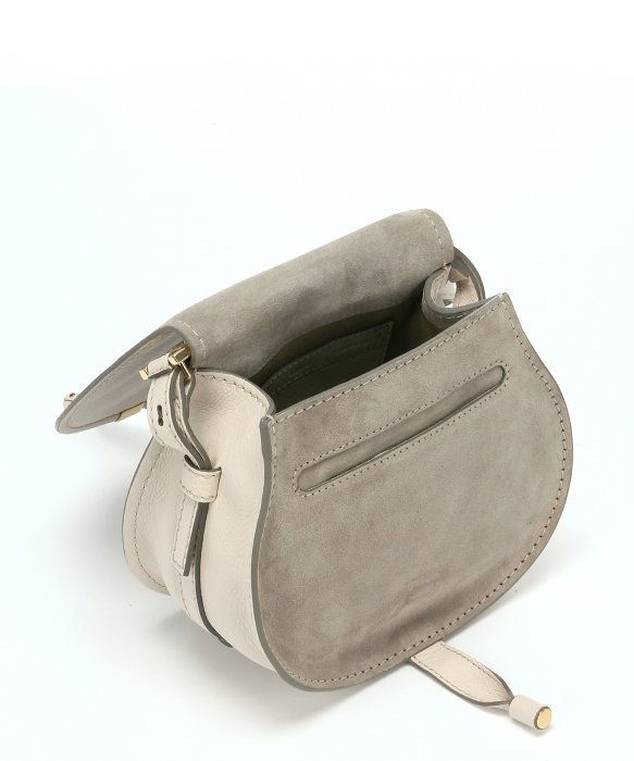 Chlo�� Abstract Calfskin \u0026#39;Marcie Nude\u0026#39; Small Saddle Bag in White | Lyst