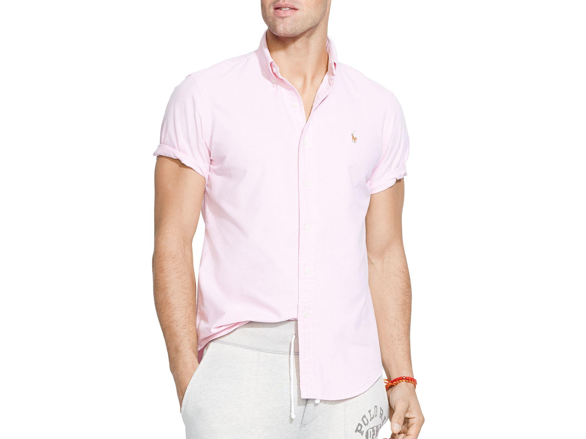 7c109d8d3910 Lyst - Ralph Lauren Polo Short Sleeve Oxford Button Down Shirt ...