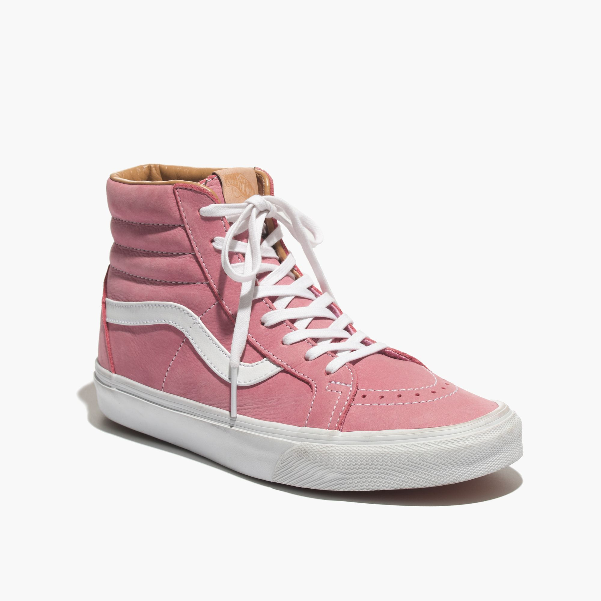 a2c740e4d2 Lyst - Madewell Vans® Sk8-hi Leather High-top Sneakers In Pink in Pink