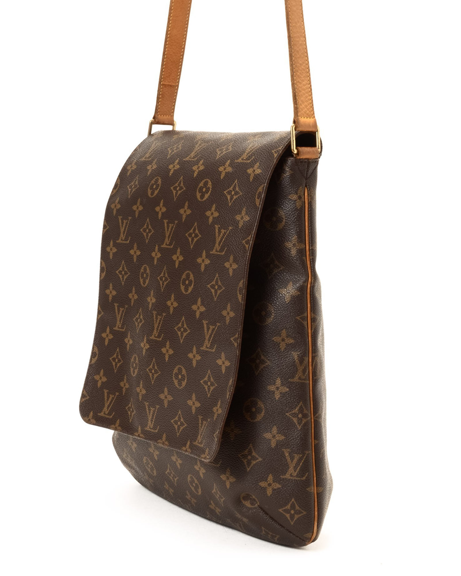 lyst louis vuitton brown shoulder bag vintage in brown. Black Bedroom Furniture Sets. Home Design Ideas