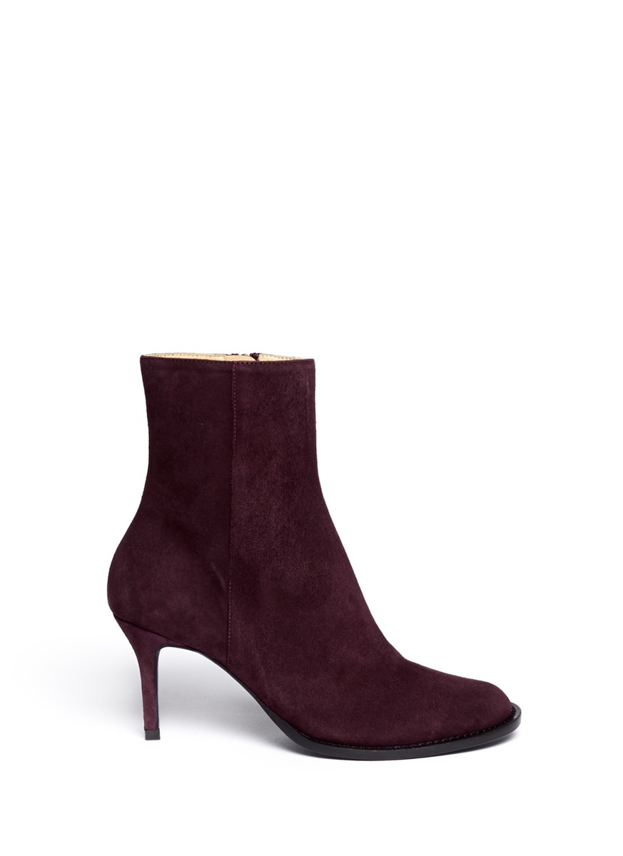 demeulemeester suede ankle boots in purple lyst