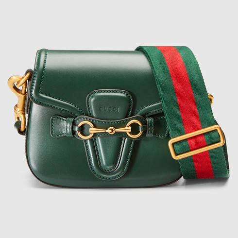 daf3737d2e1d Lyst - Gucci Lady Web Leather Shoulder Bag