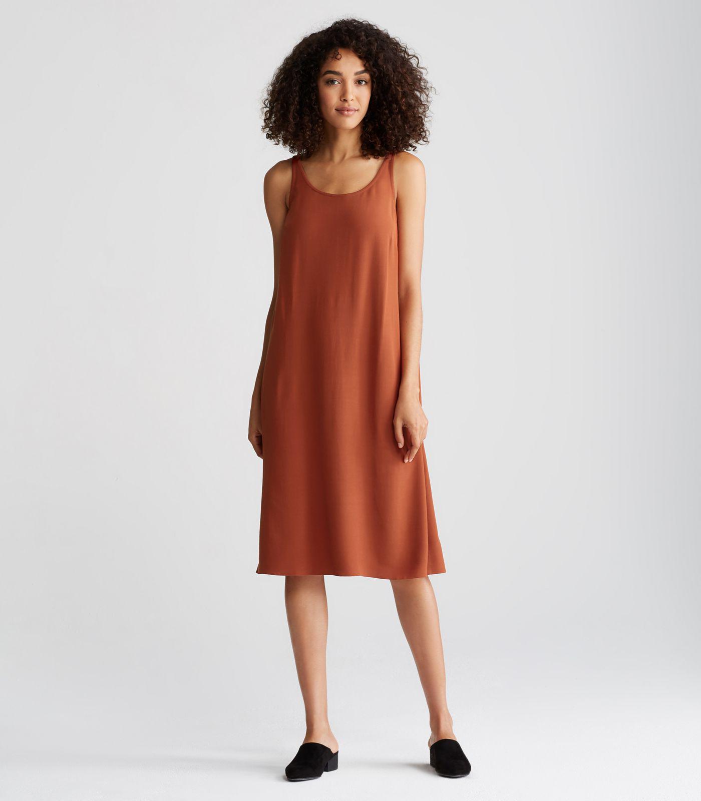 889e25129e Lyst - Eileen Fisher Viscose Crepe Plus Size Slip Dress