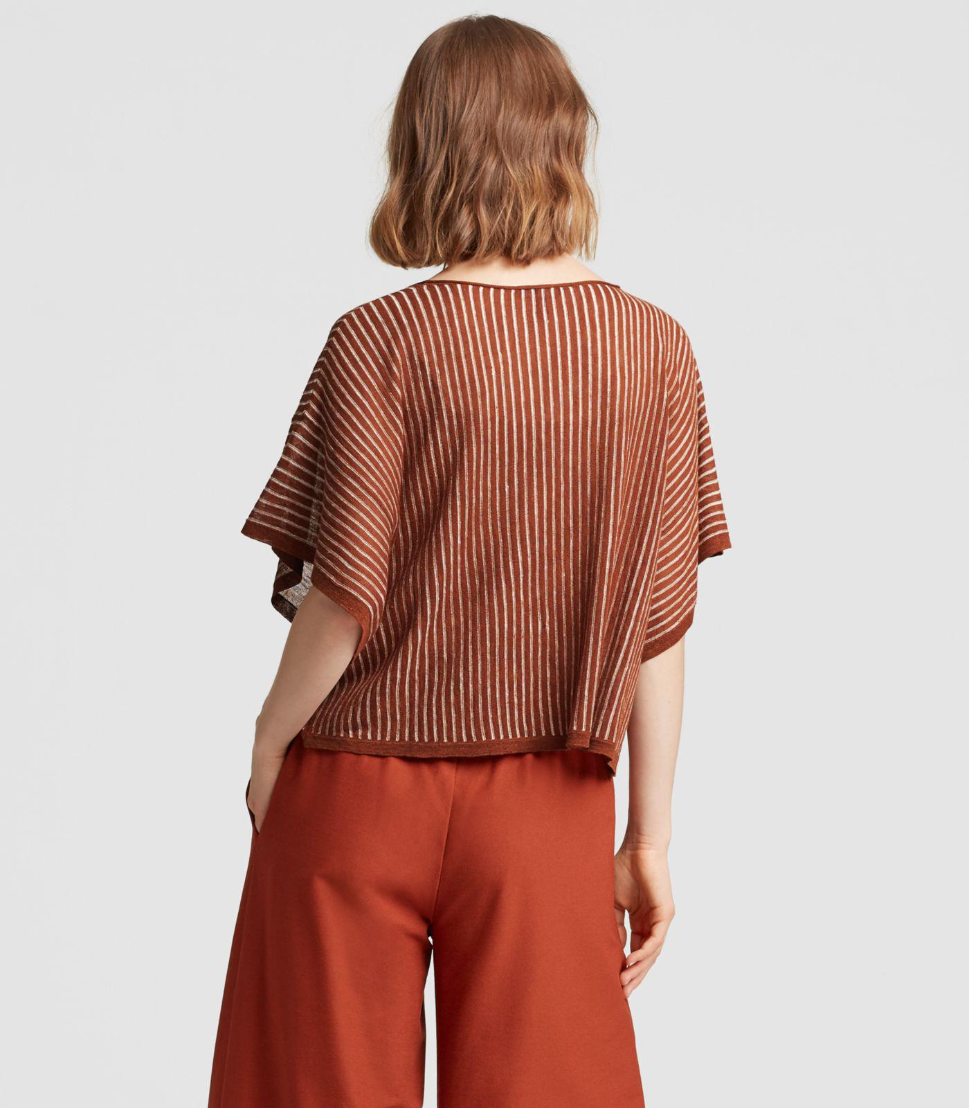 d33662b279b Eileen Fisher - Multicolor Organic Linen Striped Box-top - Lyst. View  fullscreen
