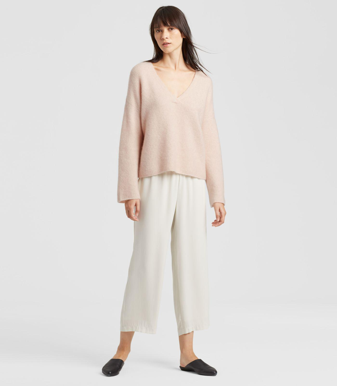 0ee447ae22077d Lyst - Eileen Fisher Cashmere Silk Bliss Box-top