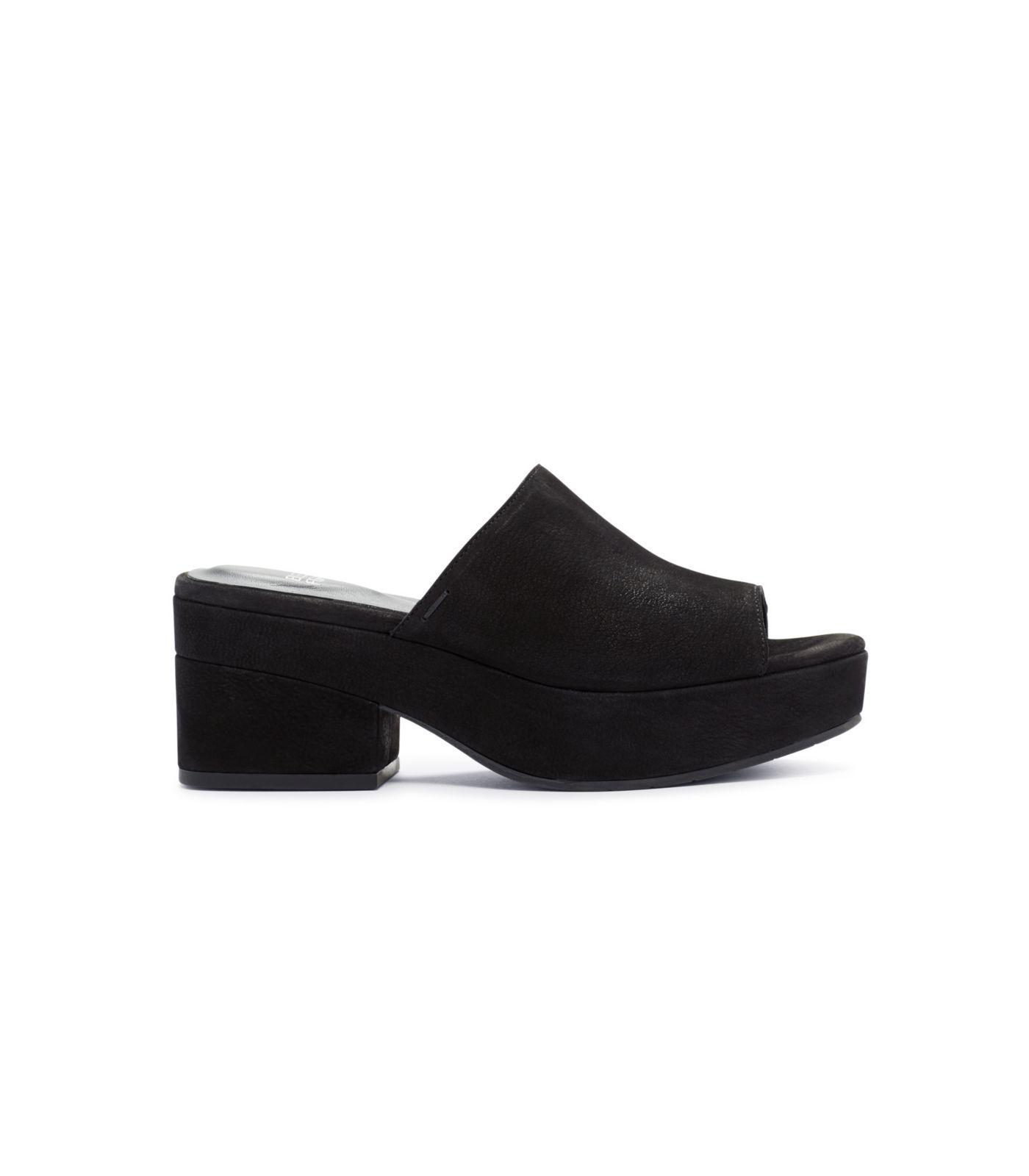 f1ac56aaee8 Lyst - Eileen Fisher Tumbled Nubuck Dana Platform Sandal in Black