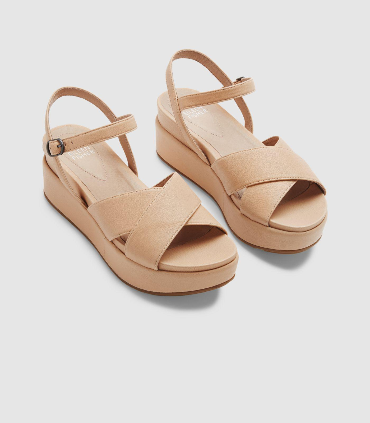 026d342cf86a Lyst - Eileen Fisher Juno Platform Sandal in Natural