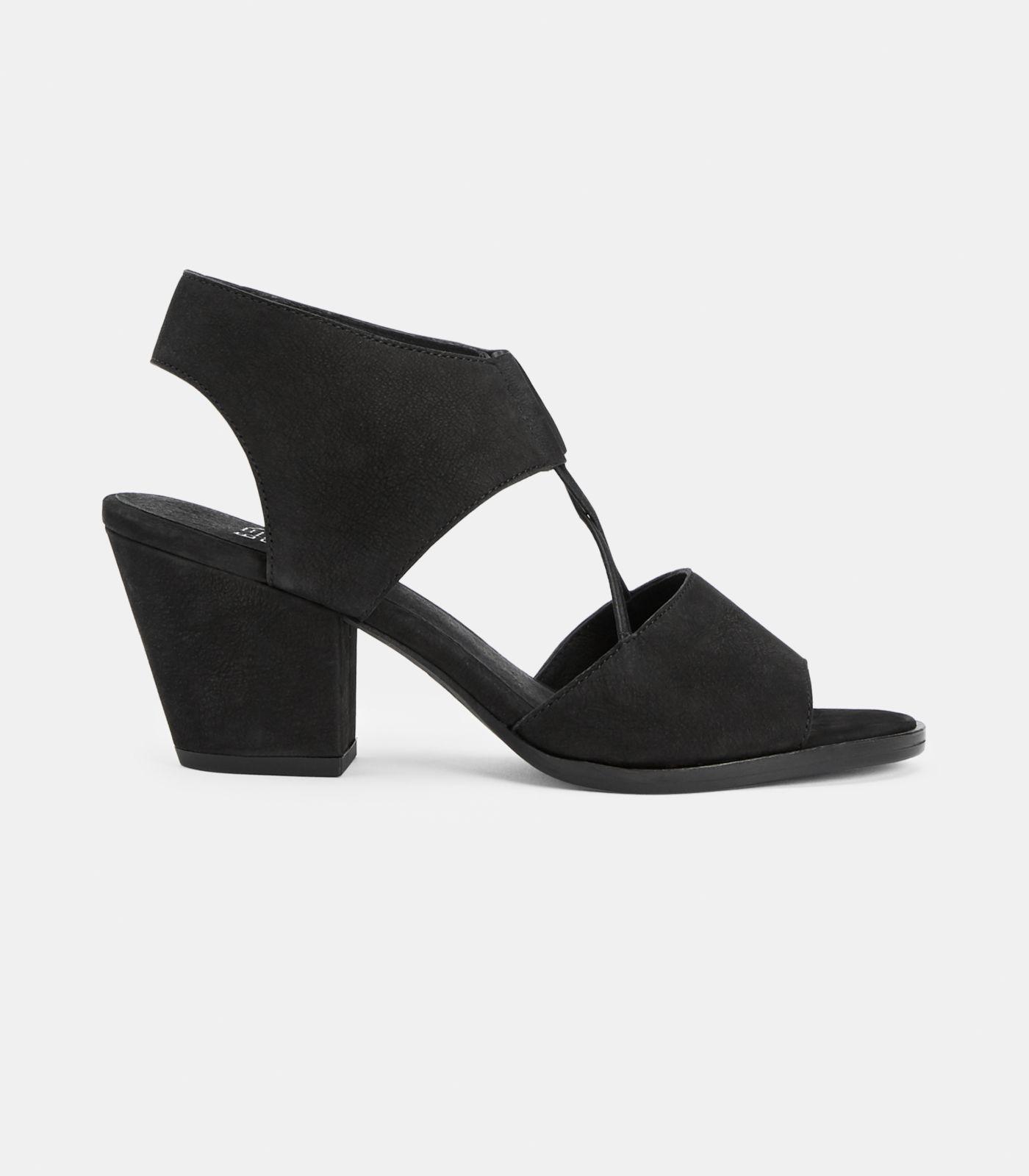 a4ee7cb21ba Lyst - Eileen Fisher Doe Tumbled Nubuck Sandal in Black