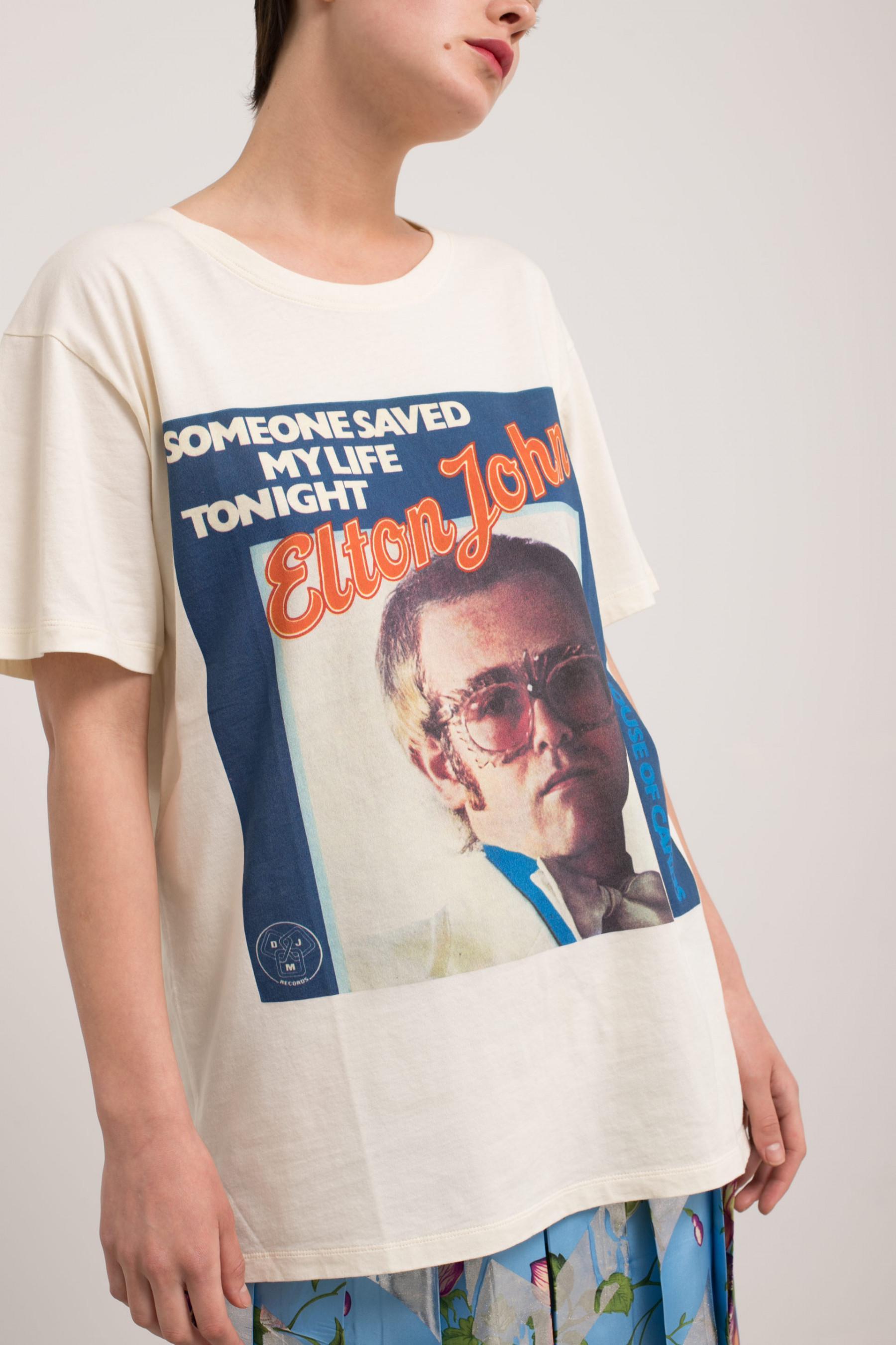 2168fbcf4c50 Gucci Elton John Tee - Lyst