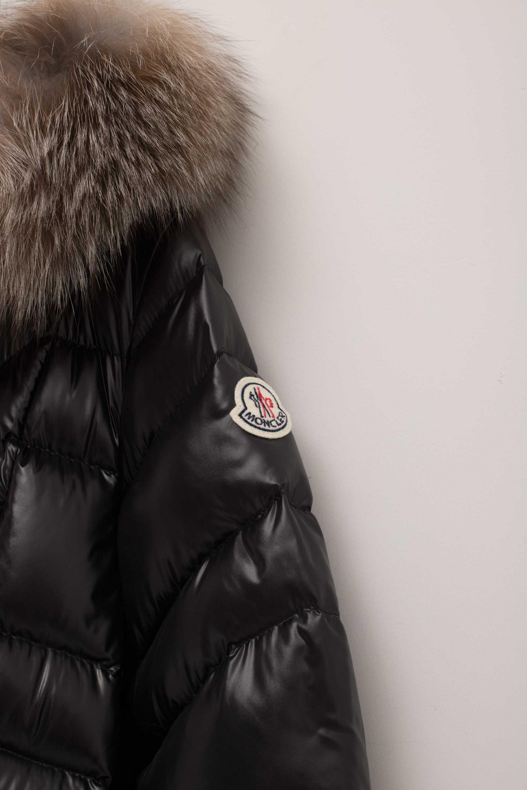 47606c1f5 shop moncler shiny black vest zodiac 7f4a8 cec88