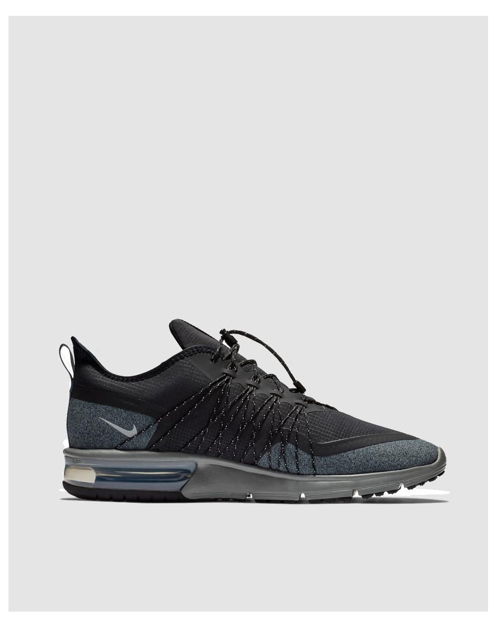 best website d2b19 82978 Lyst - Nike Air Max Sequent 4 Shield Casual Trainers in Black for Men