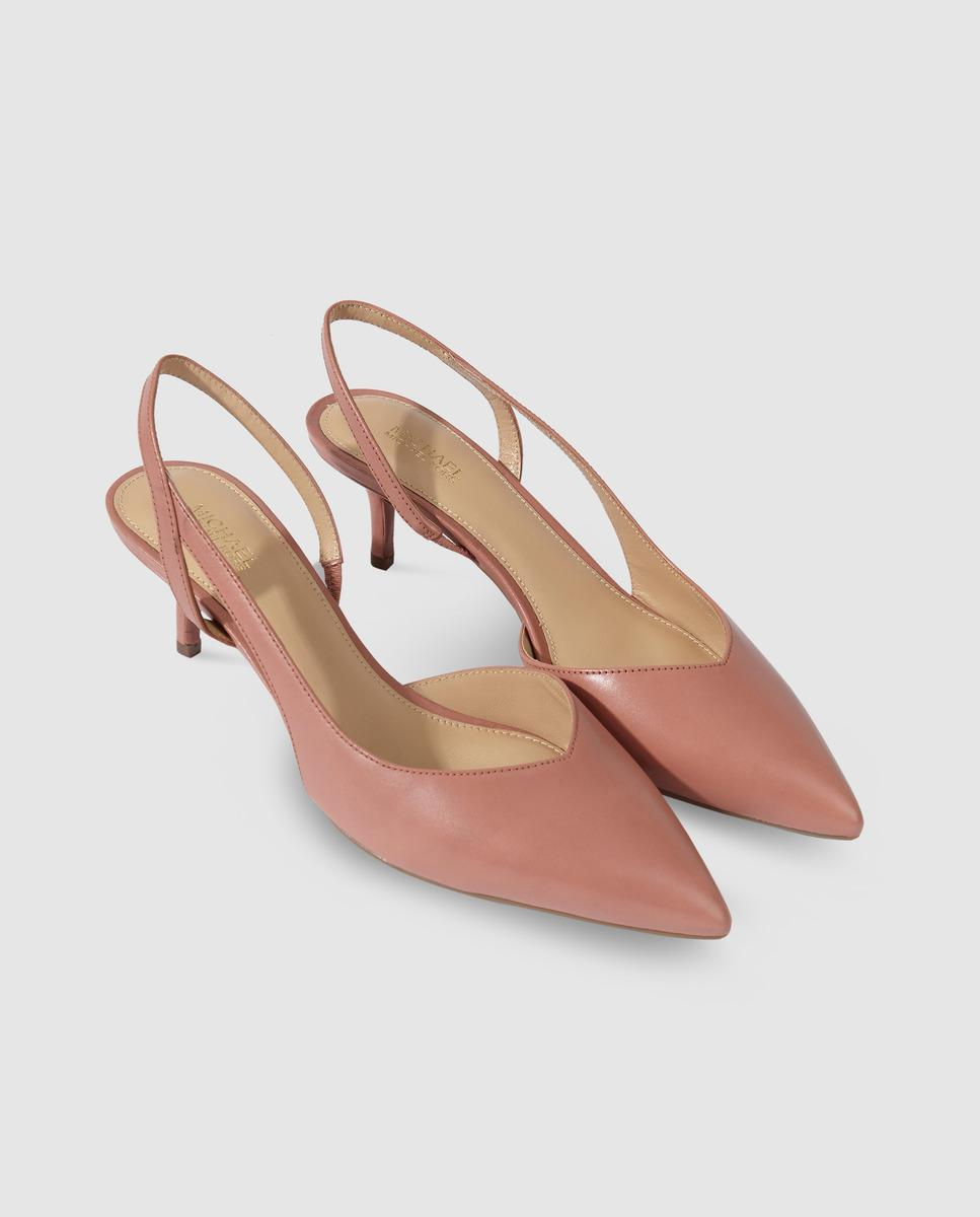 01879ecca1e Lyst - MICHAEL Michael Kors Pink Leather Court Shoes. Eliza Flex ...