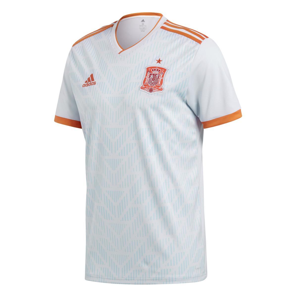 7ebb3d34f35 adidas. Men s White Spanish National Football Team 2018 Away Strip T-shirt.   85 From El Corte Ingles