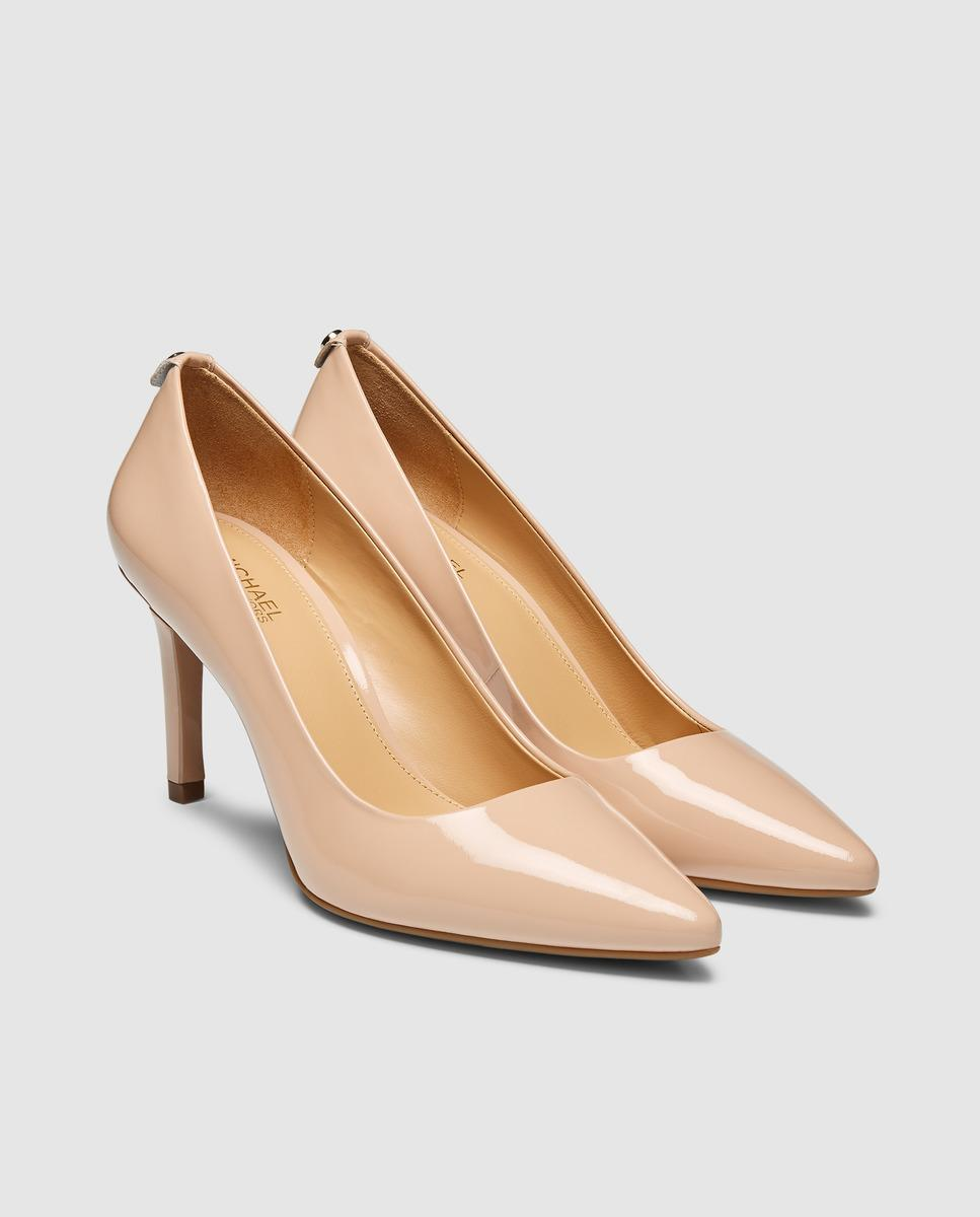 482c790fb3a2 Lyst - MICHAEL Michael Kors Michael Kors Tan Patent Leather Court Shoes.  Dorothy Flex Pump Model. in Natural