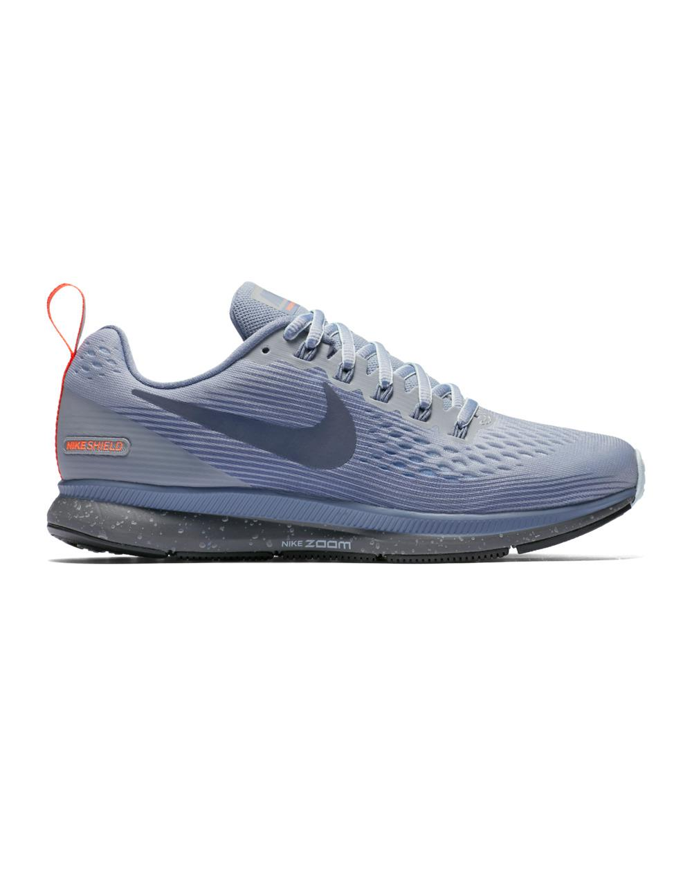 Nike. Women's Blue Air Zoom Pegasus 34 Shield Running Shoes