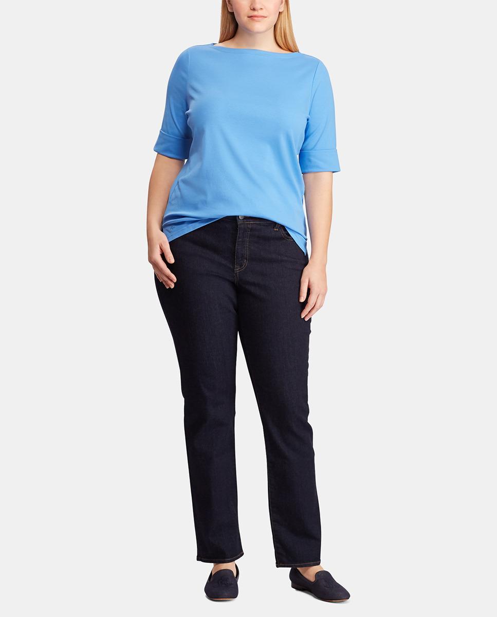 7cf76b41873 Denim   Supply Ralph Lauren. Women s Plus Size Blue Short Sleeve T-shirt