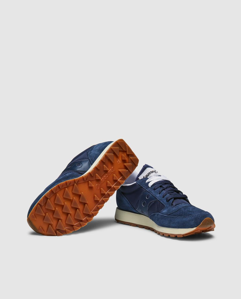 16259124f93d Lyst - Saucony Blue Suede Lace-up Trainers in Blue for Men