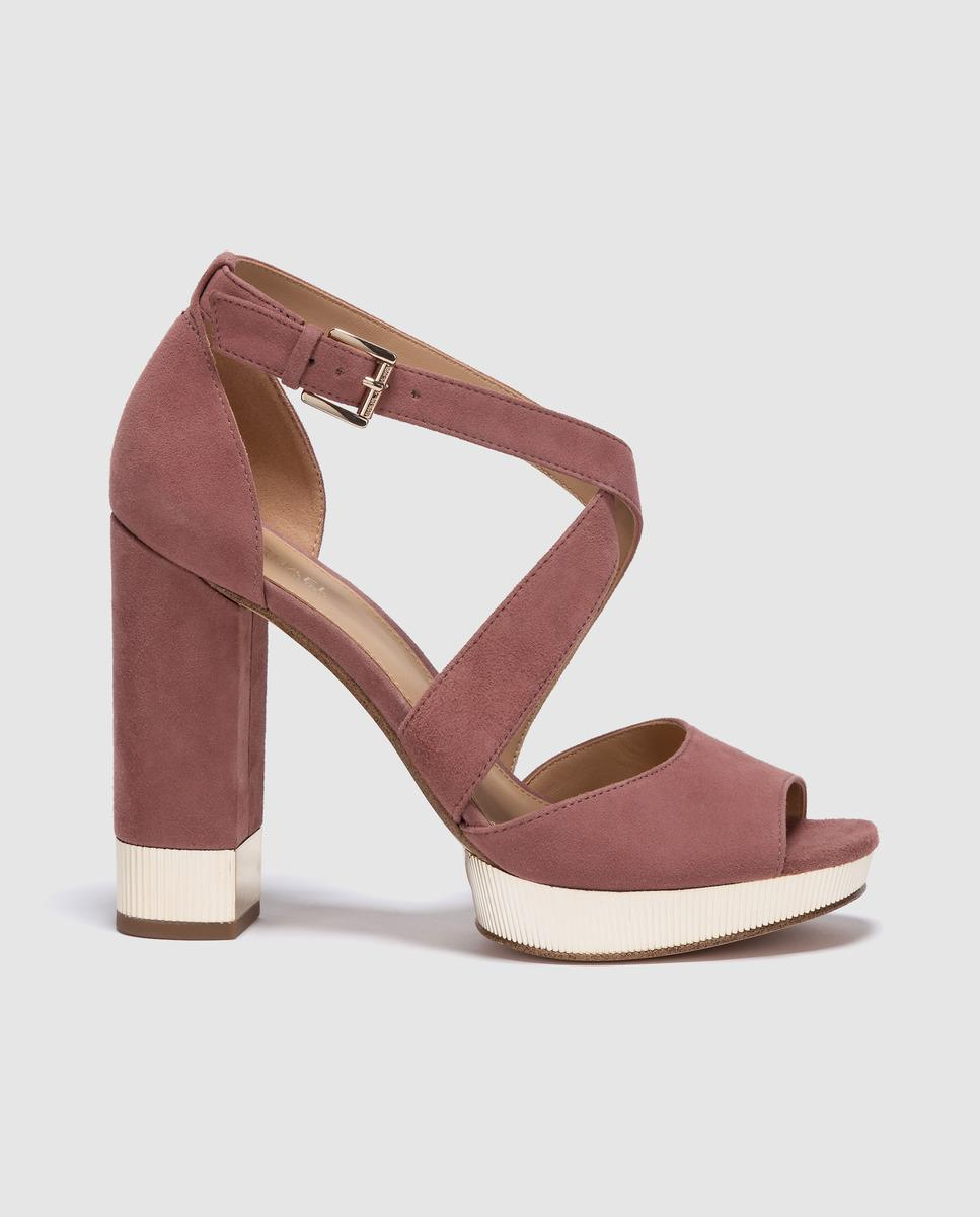 42455719709 MICHAEL Michael Kors. Women s Michael Kors Pink Leather High-heel Sandals  Valerie Platform ...