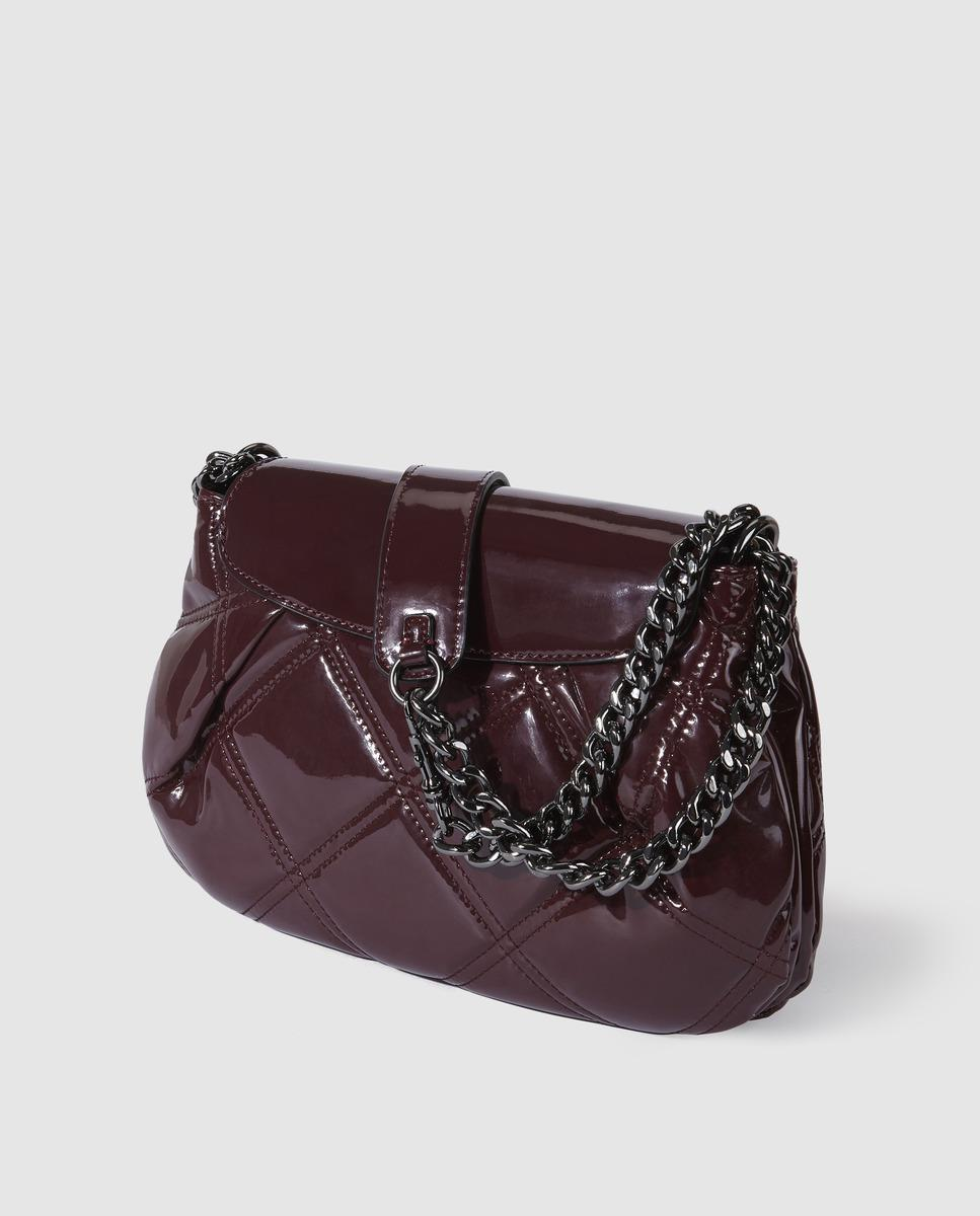 3874f578a899 ... Lyst - Guess Burgundy Shoulder Bag With Patent Leather Finis more  photos 36a67 64d05 ...
