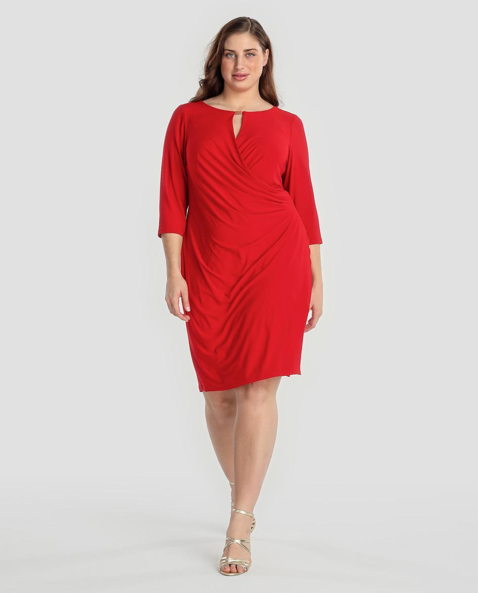 Lyst Denim Supply Ralph Lauren Plus Size Red Dress With A Pleat