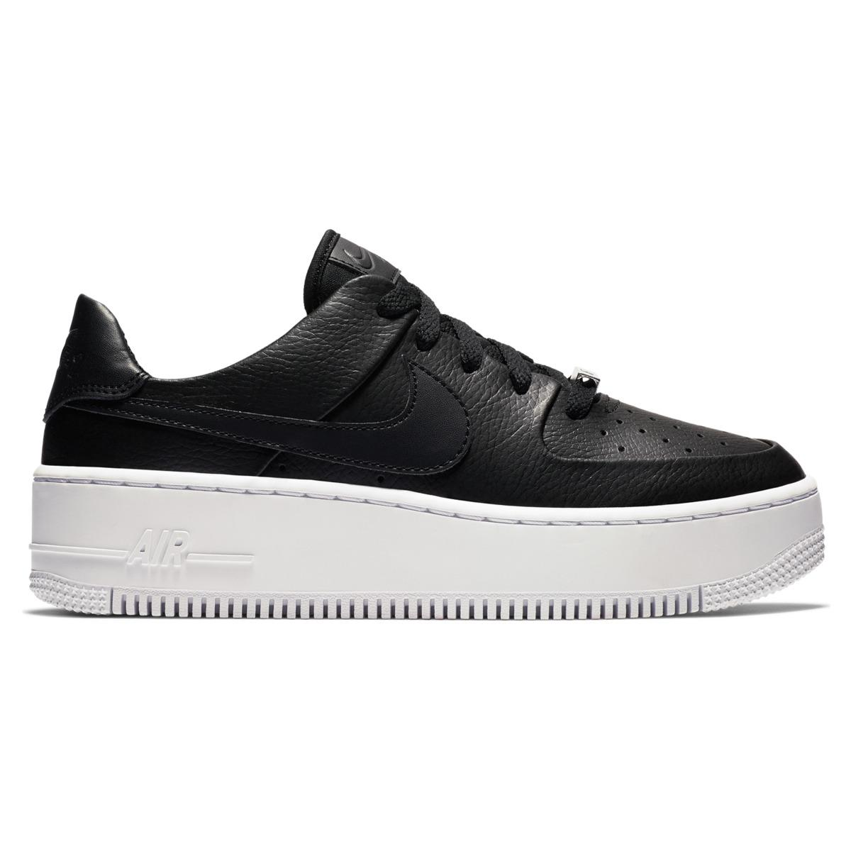 ff45e22619b Lyst - Nike Air Force 1 Sage Low Casual Trainers in Black - Save 19%