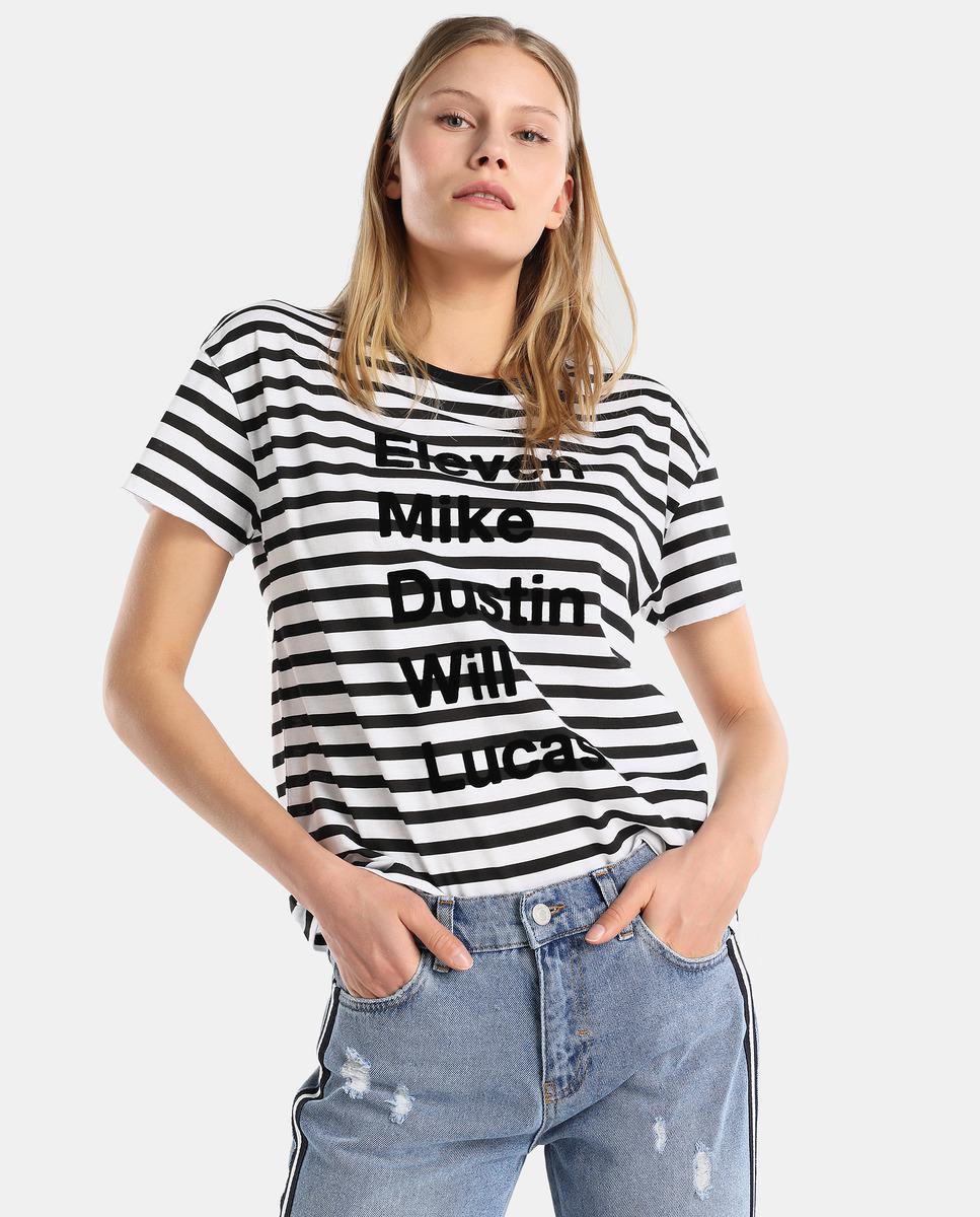 ee50c8a13 Green Coast Striped T-shirt With A Slogan - Lyst