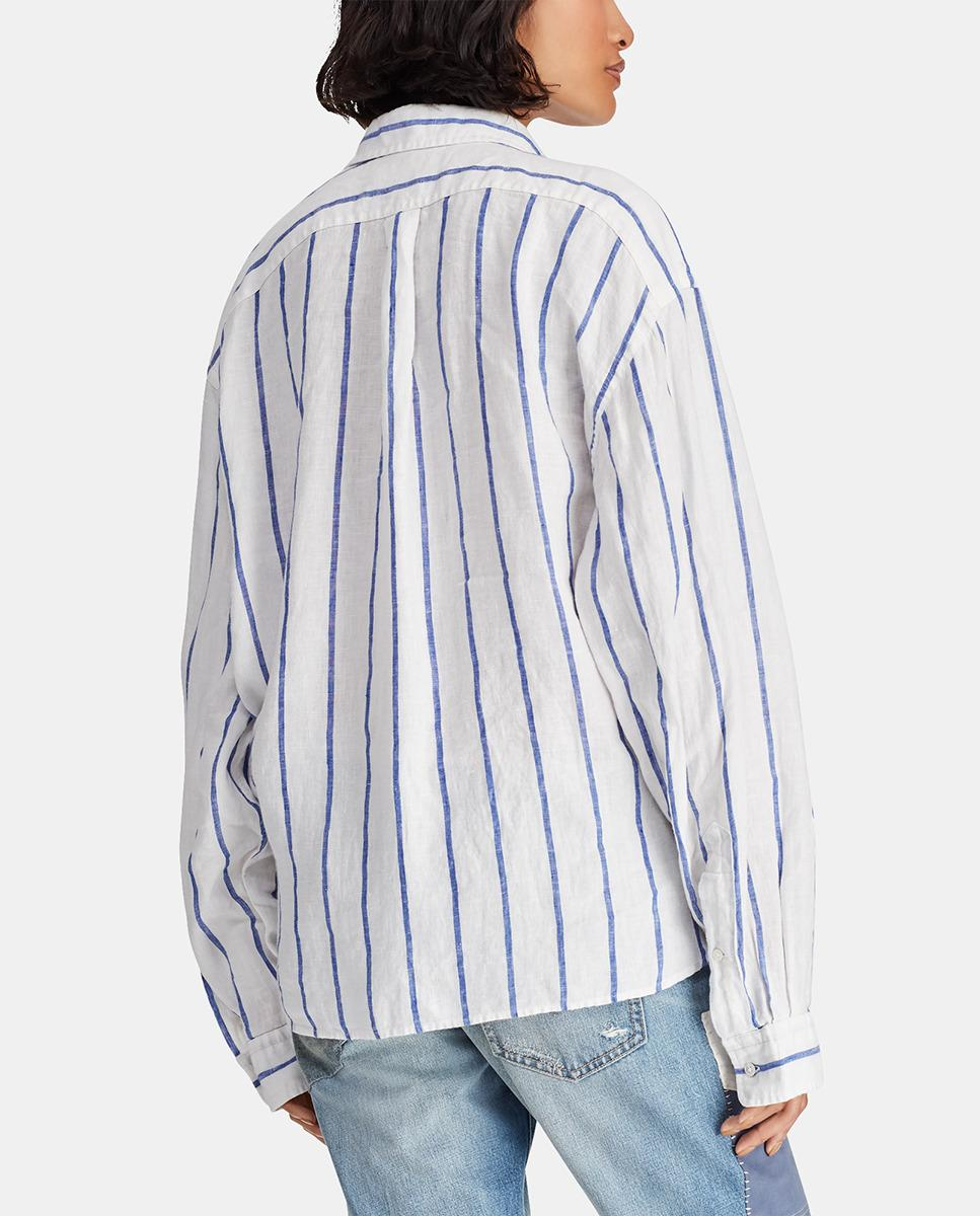 6935914c47 Lyst - Polo Ralph Lauren Long Sleeve Striped Shirt in White