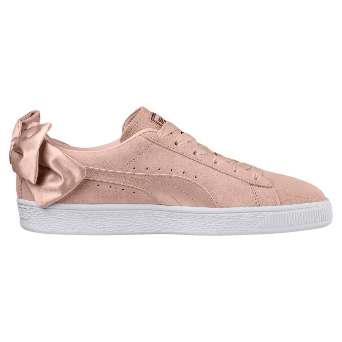 c3f54311590789 Lyst - PUMA Suede Bow Val Casual Trainers in Pink