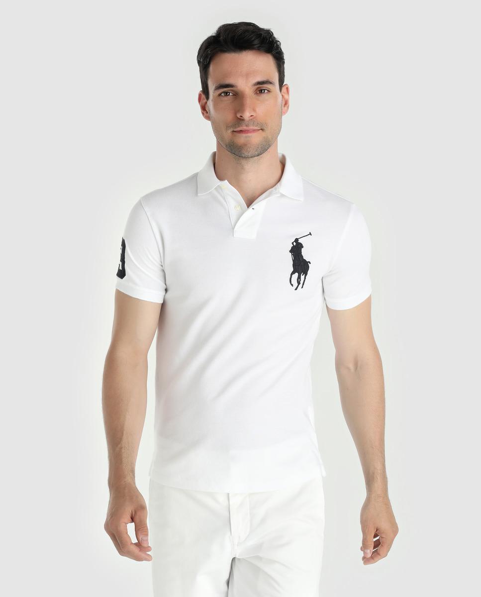 590e8e1b7dd1 Lyst - Polo Ralph Lauren White Short Sleeved Slim-fit Polo Shirt in ...