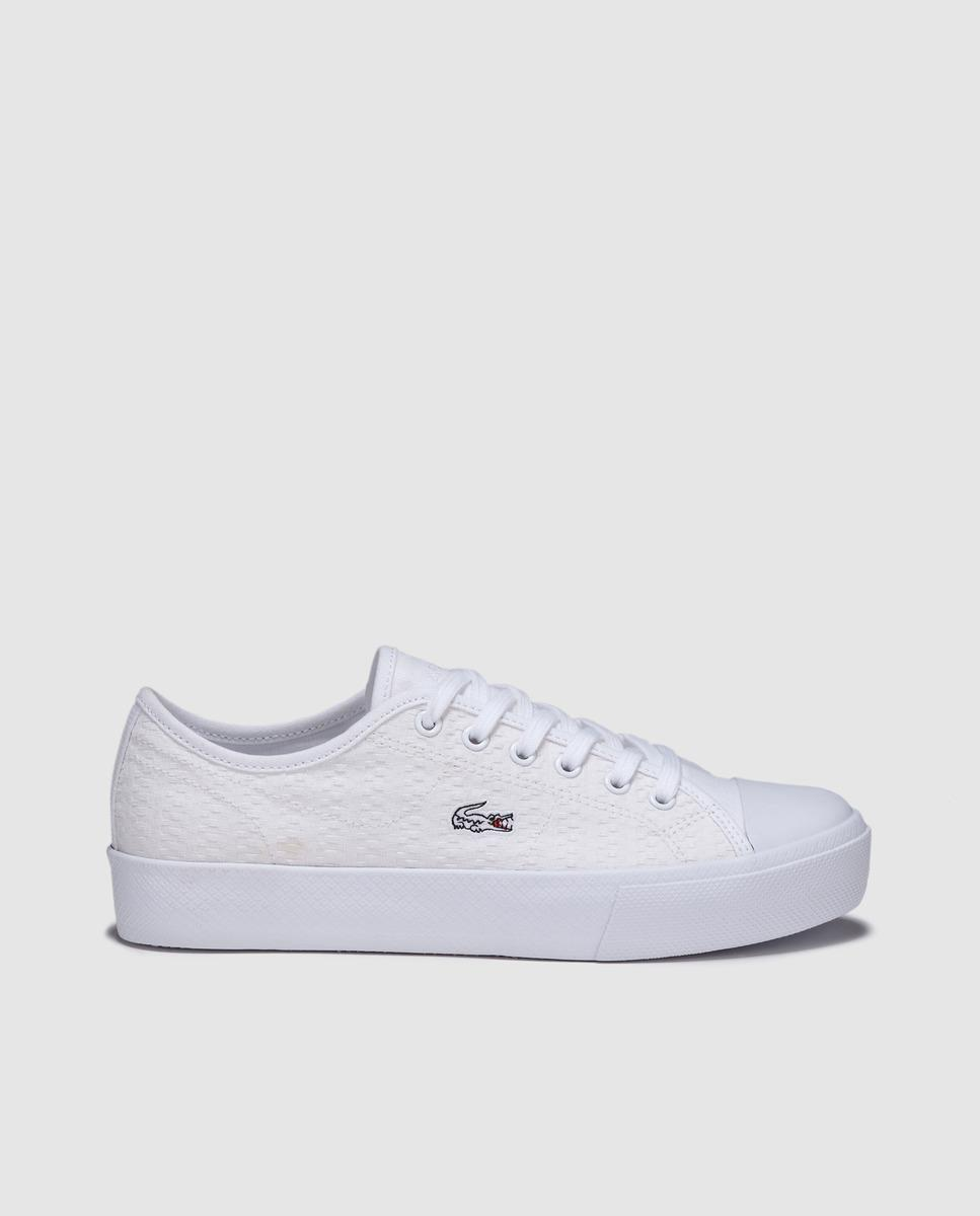 dd1cccd29b3f Lacoste. Women s White Canvas Trainers With Side Logo. £77 From El Corte  Ingles
