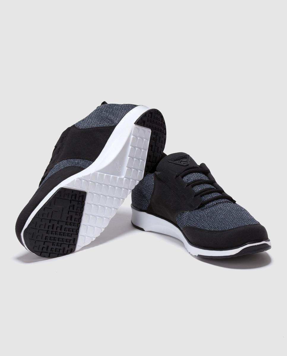 97bed282c5efac Lacoste Black Trainers With Tweed Detail in Black for Men - Lyst