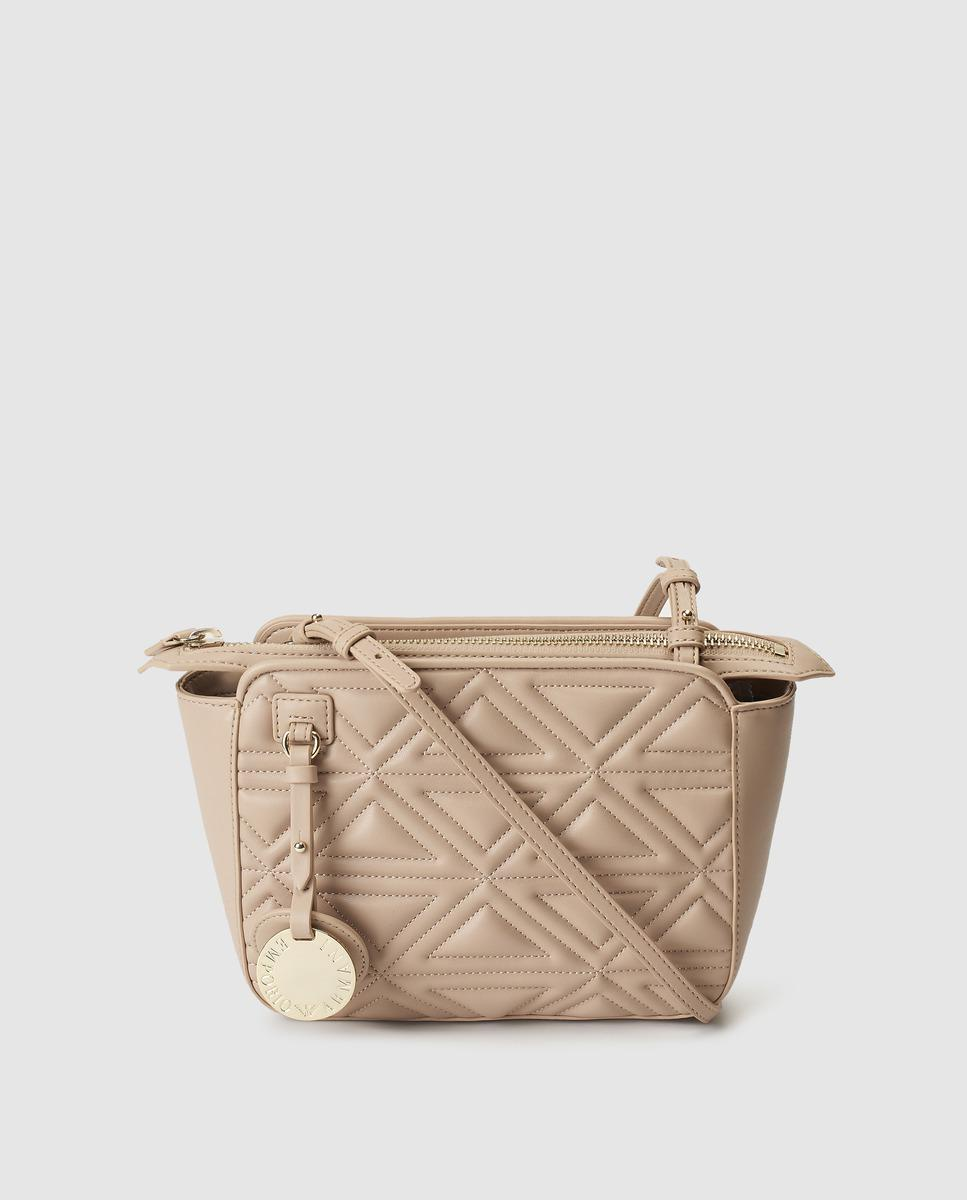 Emporio Armani Small Nude Quilted Crossbody Bag in Natural - Lyst 76e8fa31a6