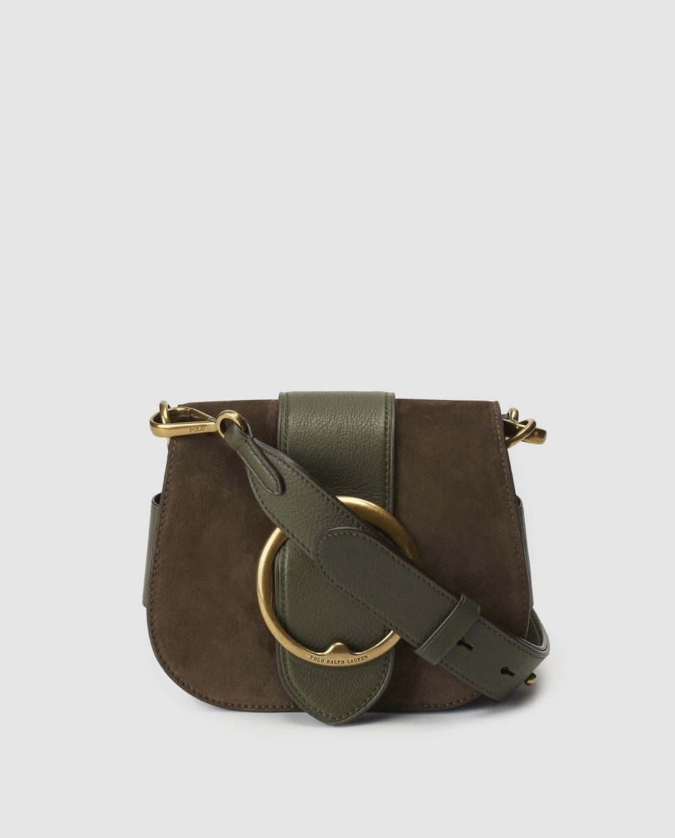 Lyst - Polo Ralph Lauren Olive Green Leather Crossbody Bag With ... f434a68b1a757