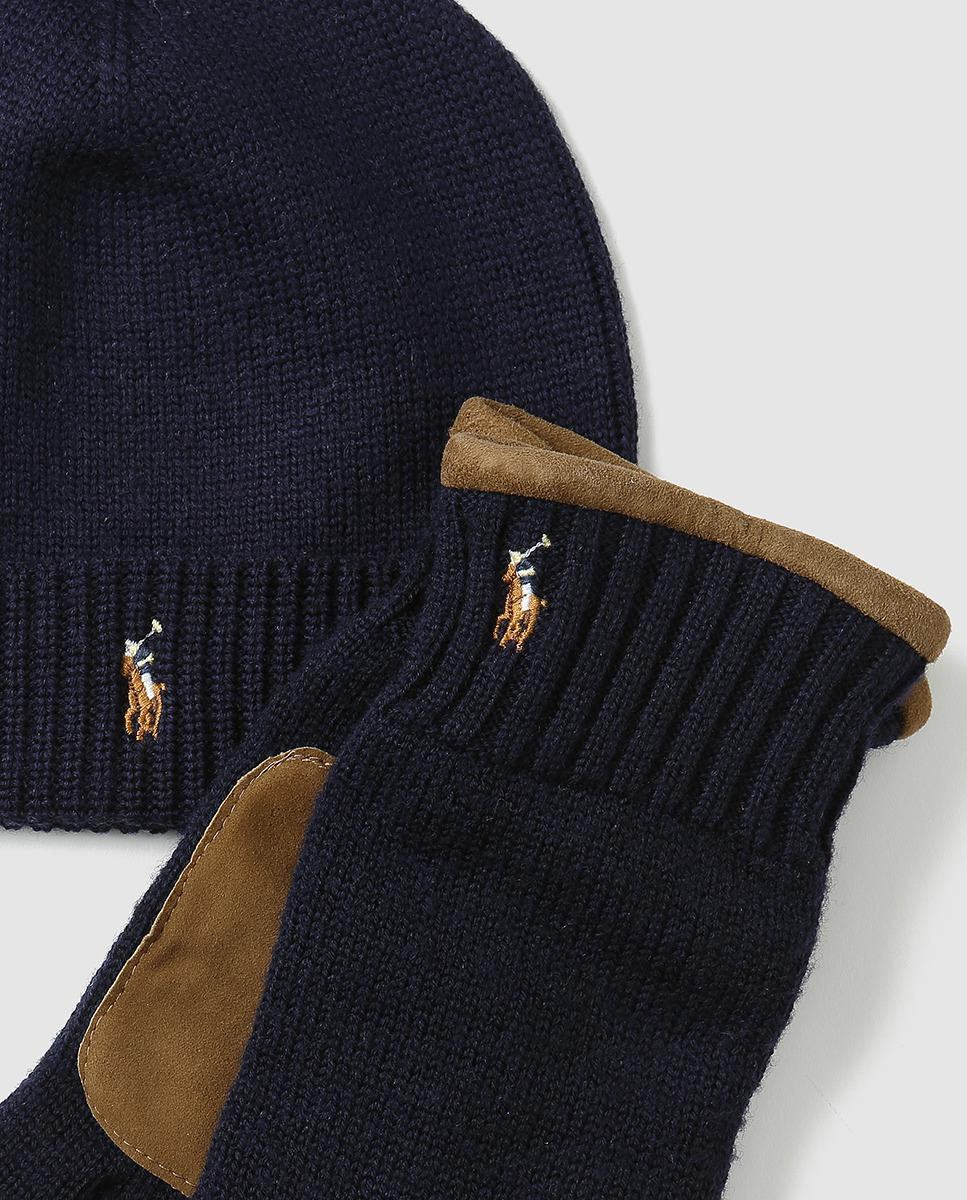 4f9ed2a1f9a42 ... denmark polo ralph lauren hat scarf accessories set in blue for men  lyst 0d73b 986d5