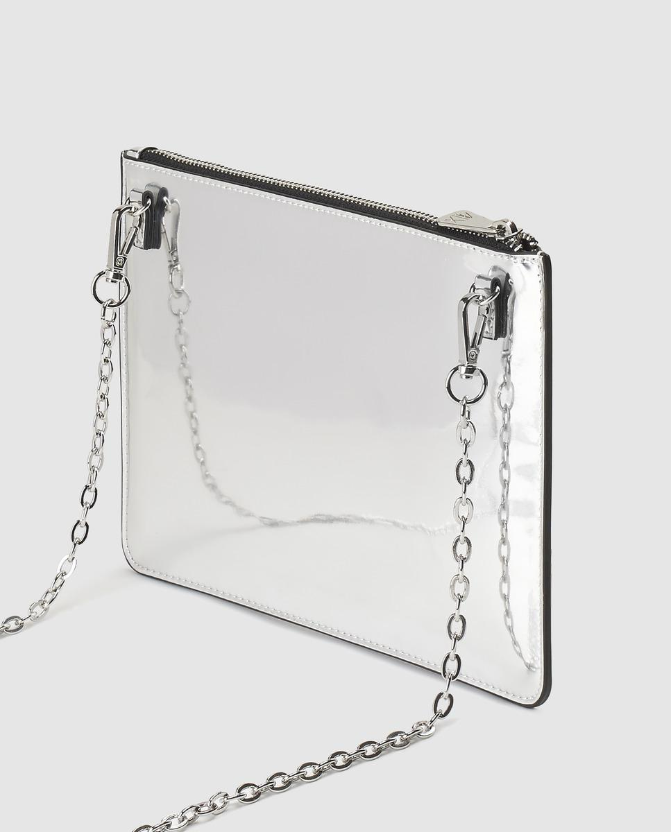 Armani Exchange Medium Silver Evening Bag in Metallic - Lyst ccddef8203174